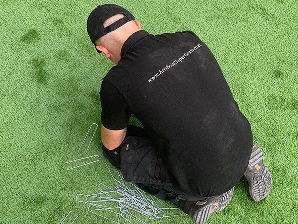 Laying Artificial Grass Crowle Artificial Super Grass