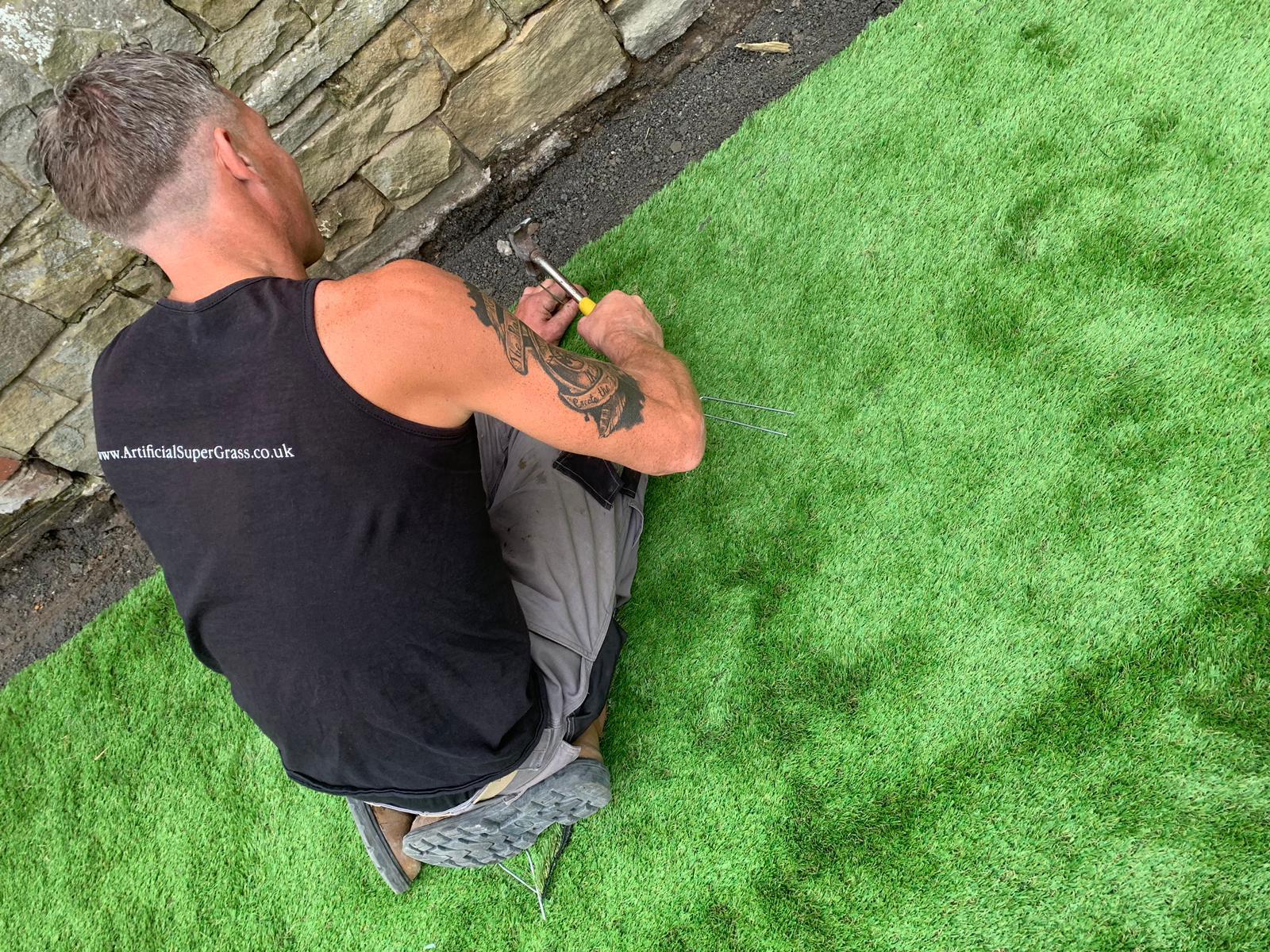 Laying Artificial Grass Darfield Artificial Super Grass
