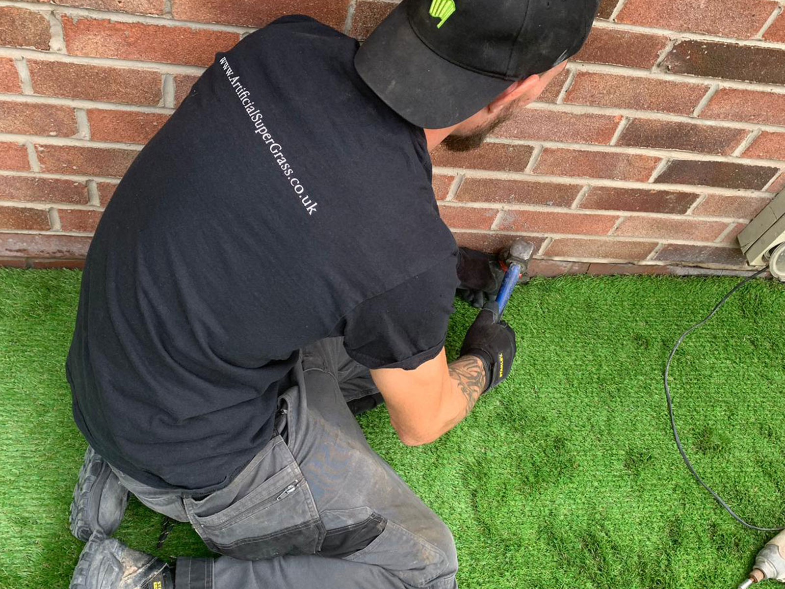 Laying Artificial Grass Harworth Artificial Super Grass