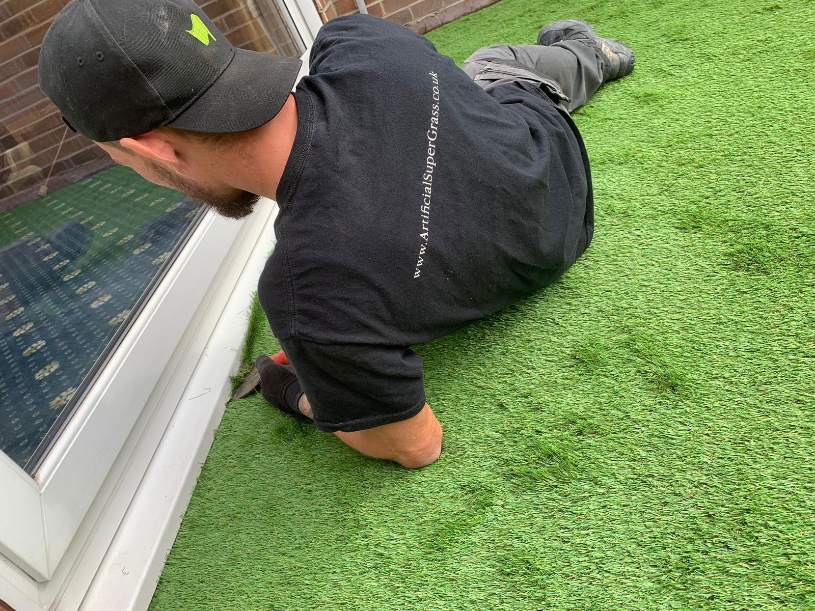 Laying Artificial Grass Manvers Artificial Super Grass