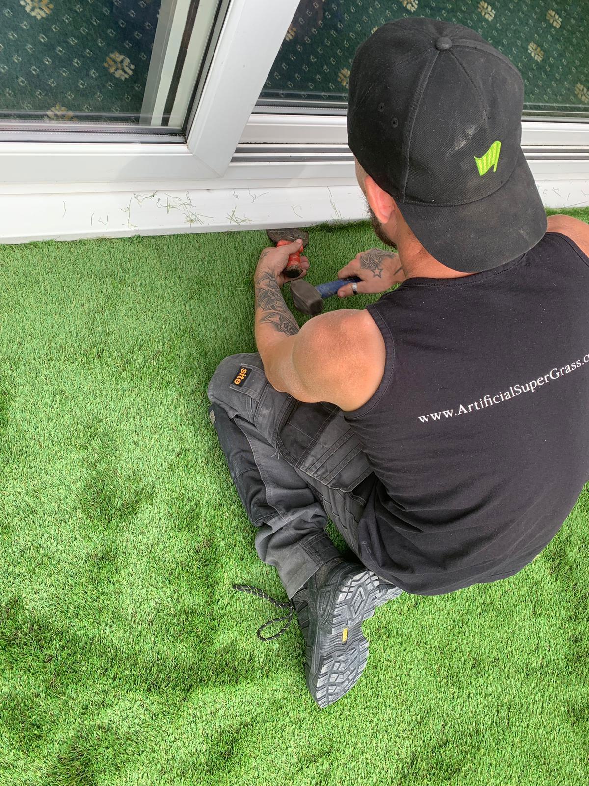 Laying Artificial Grass Rossington Artificial Super Grass