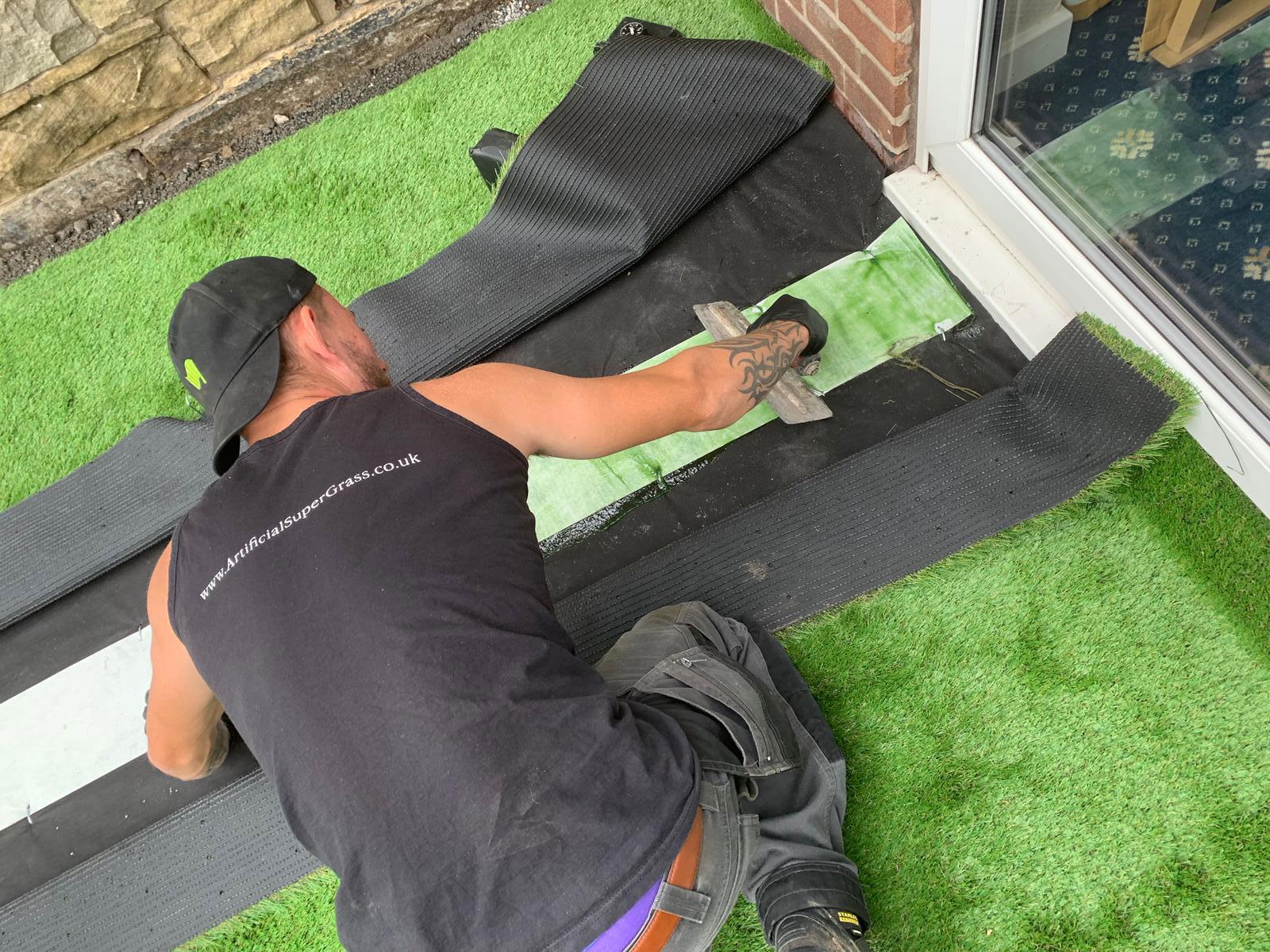 Laying Artificial Grass Wath Upon Dearne Artificial Super Grass