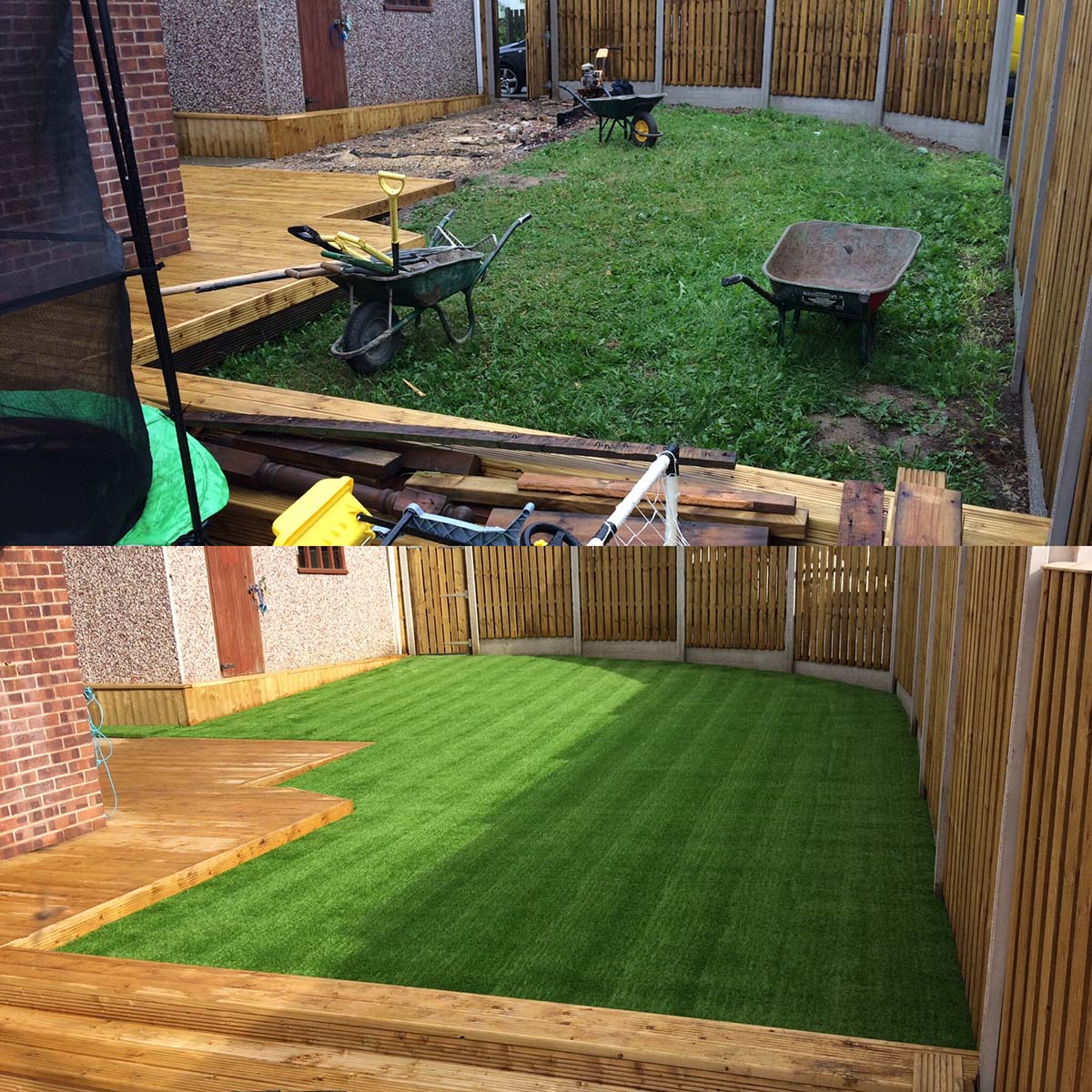 Artificial Lawn Rear Garden