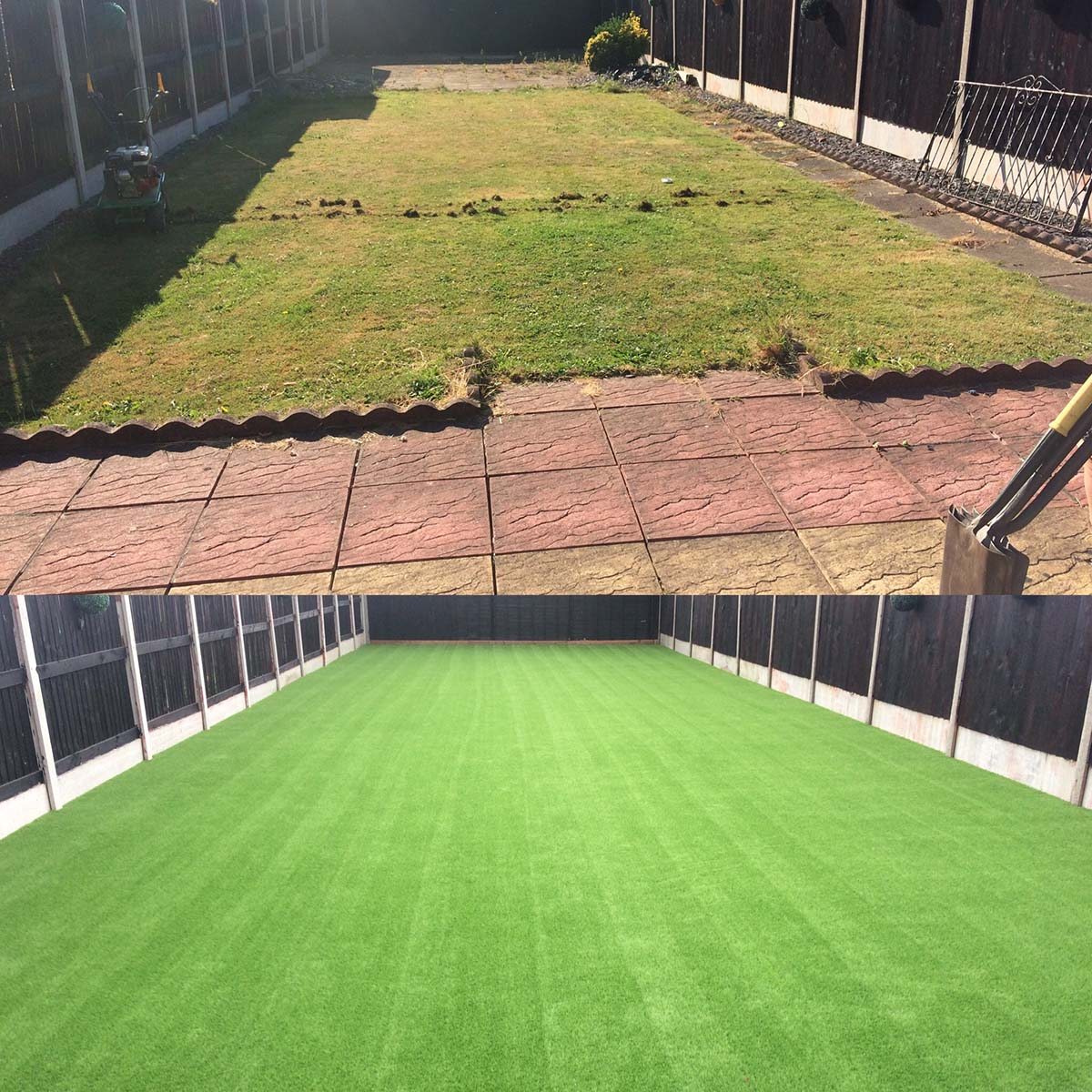 Artificial Turf Rear Garden