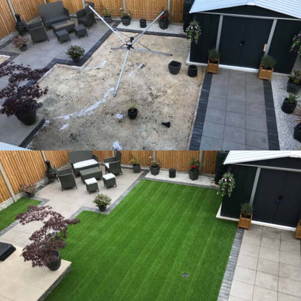 Artificial Grass and Turf Back Yard