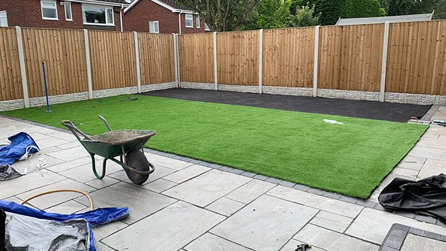 Artificial Turf Clean and Tidy Installation